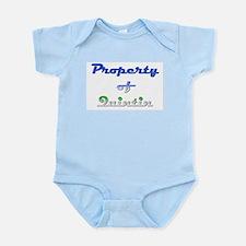 Property Of Quintin Male Baby Light Bodysuit