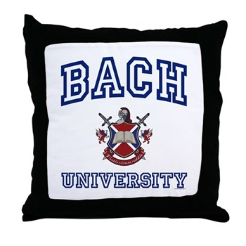 BACH University Throw Pillow