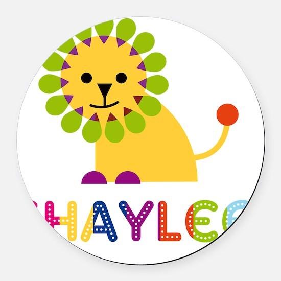 Shaylee-the-lion Round Car Magnet