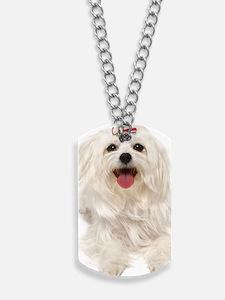 maltese ov key Dog Tags