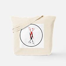 scissors_scissoringina_circl Tote Bag