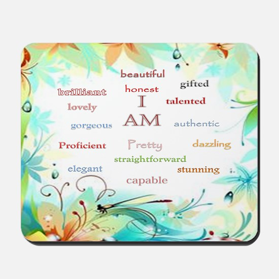 I AM 2 - big square Mousepad