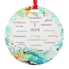 I AM 2 - big square Ornament