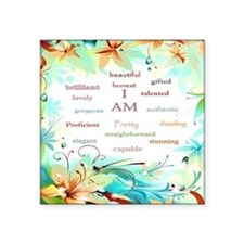 "I AM 2 - big square Square Sticker 3"" x 3"""
