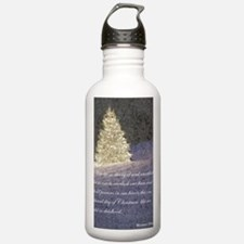 midnight tree text Water Bottle