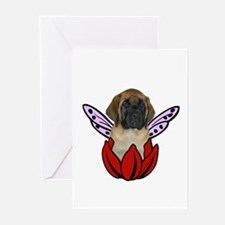 Mastiff Flower(red) Greeting Cards (Pk of 10)