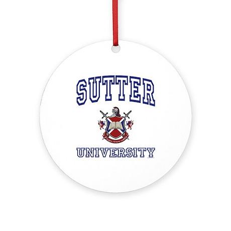 SUTTER University Ornament (Round)