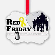 RED FRIDAY DESIGN 3 Ornament