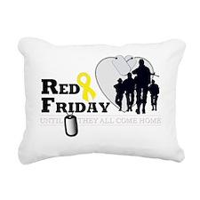 RED FRIDAY DESIGN 3 Rectangular Canvas Pillow