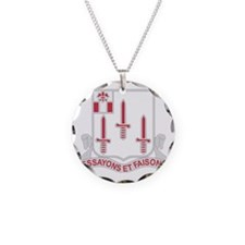 DUI-54th-Engineer-Battalion Necklace Circle Charm