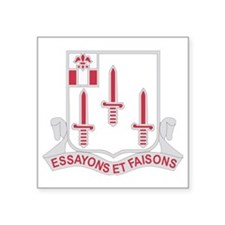 "DUI-54th-Engineer-Battalion Square Sticker 3"" x 3"""