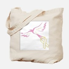 Bird of HOPE - find a cure 4 Kids with Ca Tote Bag