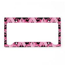 PinkRibHLLLPbMiniW License Plate Holder