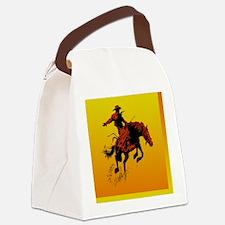 bronc-sq2 Canvas Lunch Bag