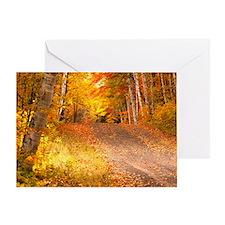 AutumnFoliageRural_9X12 Greeting Card