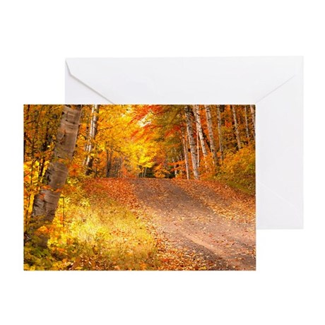 AutumnFoliageRural_9X12 Greeting Card