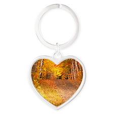 AutumnFoliageRural_9X12 Heart Keychain