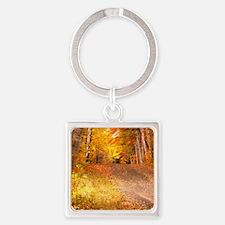 AutumnFoliageRural_9X12 Square Keychain