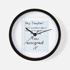 Hey Teacher! Wall Clock