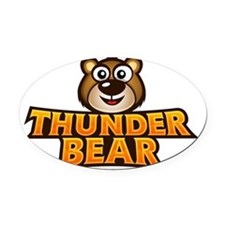 Thunder Bear Oval Car Magnet