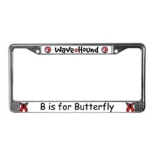 B is for Butterfly License Plate Frame