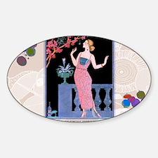 1 JAN ARAIGNEE DU SOIR BARBIER Sticker (Oval)
