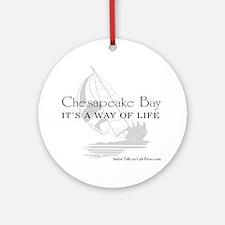 chesapeake bay way of life Round Ornament
