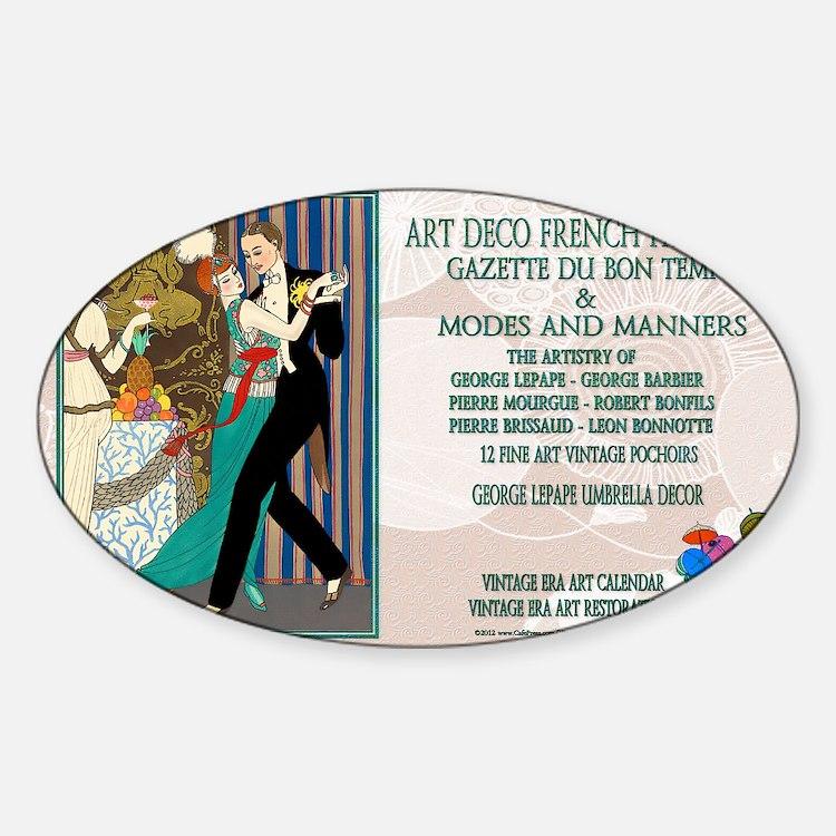 1 A BARBIER LA DANSE ADFF Sticker (Oval)