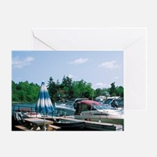St. Lawrence River. Marina in Ganano Greeting Card