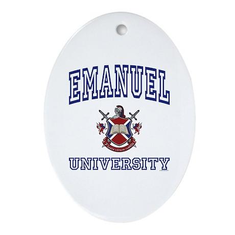 EMANUEL University Oval Ornament