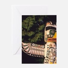A totem pole In Vancouver, Canada. Greeting Card