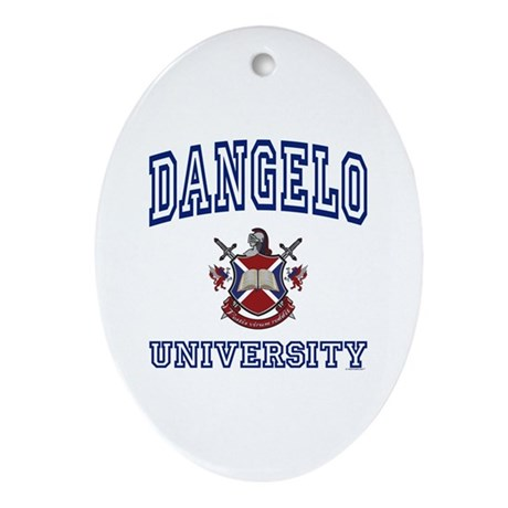 DANGELO University Oval Ornament