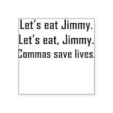 Commas Save Lives Sticker