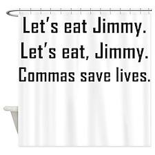 Commas Save Lives Shower Curtain