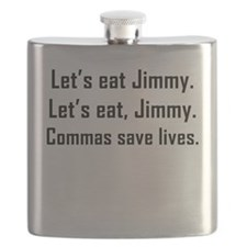 Commas Save Lives Flask