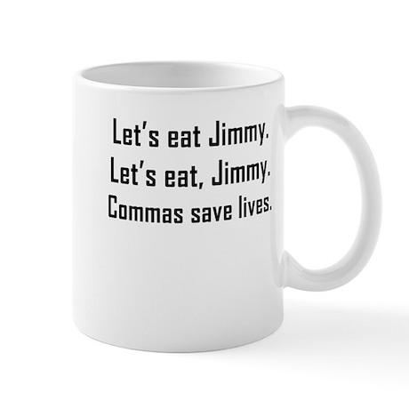 Commas Save Lives Mugs