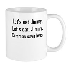 Commas Save Lives Mugs