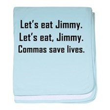 Commas Save Lives baby blanket