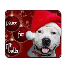 PEACE Christmas Card Outside Final Final Mousepad