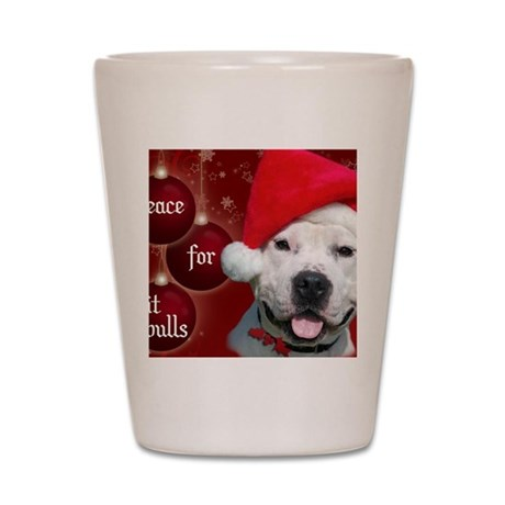 PEACE Christmas Card Outside Final Fina Shot Glass
