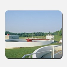 Sewage waste water treatment plant sludg Mousepad