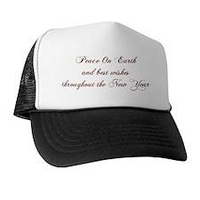 PEACE Christmas Card Inside Final Trucker Hat
