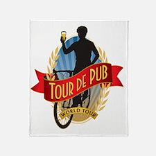 tour de pub Throw Blanket