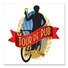 "tour de pub Square Car Magnet 3"" x 3"""