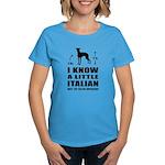 Little Italian - Greyhound Women's Dark Tee