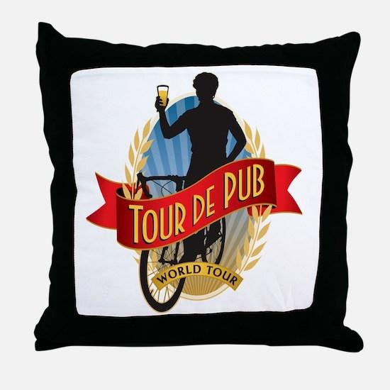 tour de pub Throw Pillow