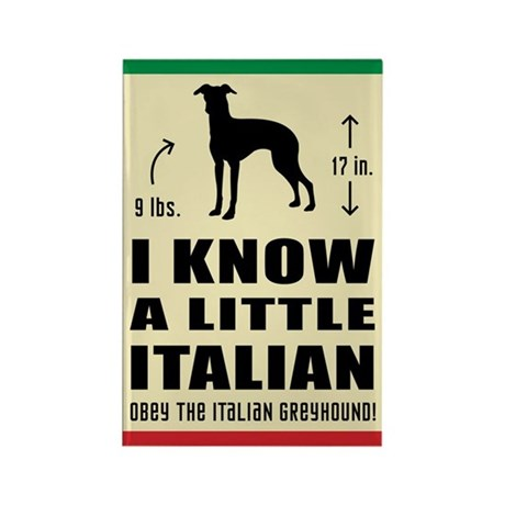 I know a little Italian - Greyhound Magnet