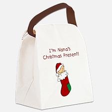 nanaschristmaspresent Canvas Lunch Bag