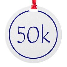 Blue 50K Ornament