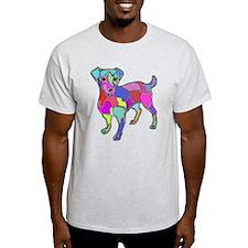 NEON JACK RUSSELL TERRIER T-Shirt